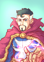 Dr. Strange Sketch! by Marcos-A-Rodrigues