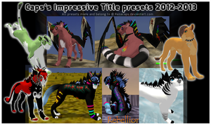 My best Impressive Title presets by norochan