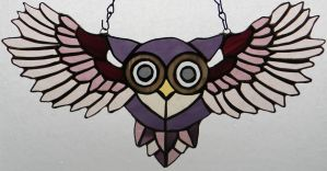 Peek-A-Boo Purple Owl by GhostyBoo
