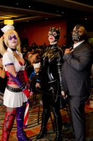 Harley Quinn / Catwoman / Bane =D by DannyCozplay
