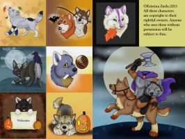 Fall Pup Commissions ( SOLD) by NatsumeWolf
