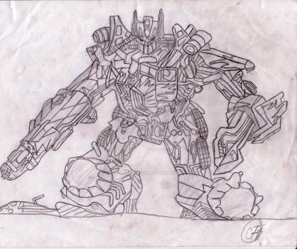 Tranformers Optimus Prime by themarkerkiller