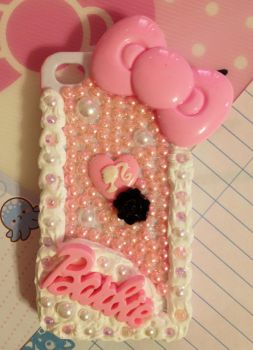 Baby Pink Barbie Decoden Cellphone Case by pinkDudu
