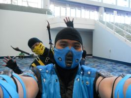 Scorpion just photobombed SubZero by TheLinKueiNinja