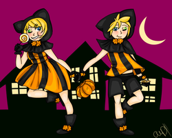 Trick or Treat Twins by sillysayings