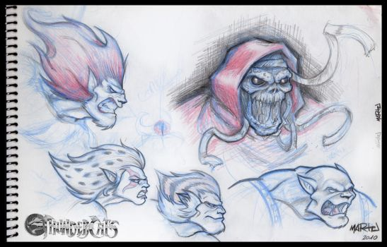 Thundercats - sketches by mARTu-Mandy
