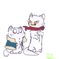Sans and Papyrus kittes :3 by AgatnaCalista