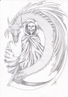 Reaper and dragon tattoo 2 by The-DeathAngel