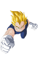 Vegeta Vector Render/Extraction PNG by TattyDesigns