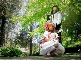 Madoka and Homura by Snippershoo