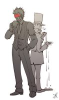 Professor Layton vs Godot by RealNoir13