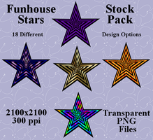 Funhouse Stars Stock Pack by Aazari-Resources