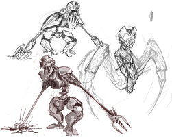 Robot Sketches by kvernikovskiy
