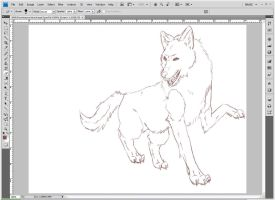 Next step for wolf styles WIP1 by Lurker89