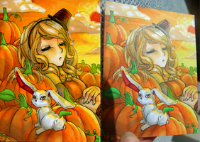 ACEO Prize - Pumpkin by ICanReachTheStars