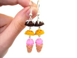 Ice Cream Earrings by ClayMyDay