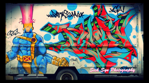 NYC ART: Cyclops and Graffiti by SynfulSick