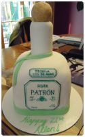 Patron Bottle Cake by cake4thought