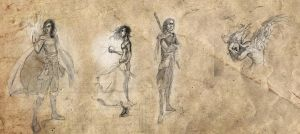 Free Sketches 1-4 by Lumaris