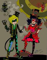 Steampunk Ladybug Chat noir by GabyCoutino
