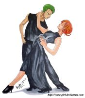 Dancing with Nami and Zoro. by VeIra-girl