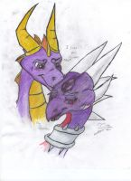 Spyro and Cynder Kiss by goina
