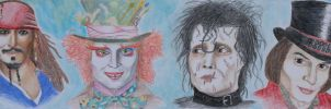 A Man of Many Faces: Johnny Depp by JaKaite