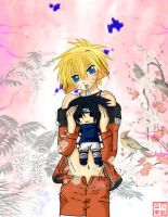 +Naruto with Sasuke plushie+ by kv