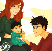 The Potter Family by TheGingerMenace123