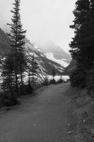 Lake Louise Path by RubyRadio