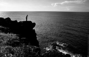 The man on the cliff. by Gothumanity