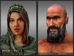 Rise and Fall: 3D game character close-ups by TheArtOfSanhueza