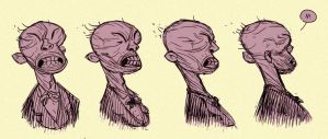 zombie head turnaround by marklaszlo666
