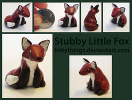 Stubby Little Fox - SOLD by Bittythings