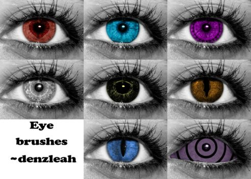 Random Eye Brushes by denzleah