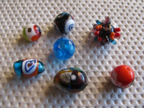 Lampworking beads 1 by Melifacent