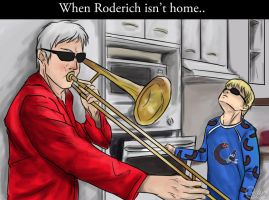 When Roderich isn't home... [APH] by patty110692