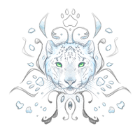 Crest Sketch 31: Snow Leopard by andarix