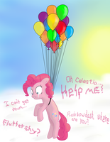 Pinkie Pie Floats Away by TwilightSparkle907