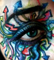 Graffiti Eye Makeup by atahirART