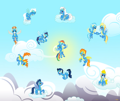 The Wonderbolts (100+ watcher special) by ThunderElemental