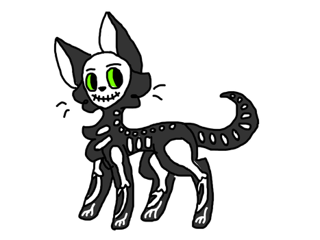 Skelekitty by kelsey95