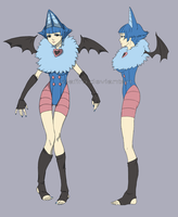 Hariot the Swoobat Gijinka by Z-afiro