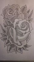 Practising with roses by gbftattoos