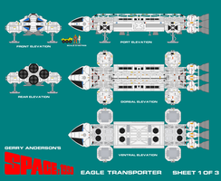Gerry Andersons Space 1999 Eagle Transporter 1 by ArthurTwosheds