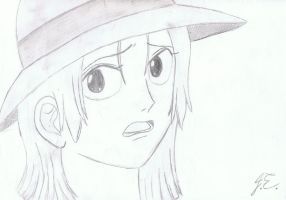 Nami with a straw hat by miki-chaan