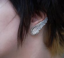 Dark Angel Earrings -1 by Aranwen