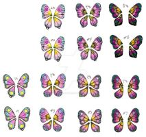 Butterfly Wing Designs colored by DragonLadyhere