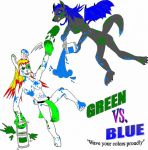 GL - Green Vs. Blue pt. 1 by Green-Legend