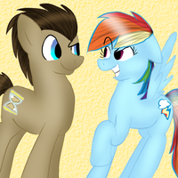 Doctor and Rainbow Dash by bookfangeek